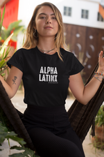 Alpha Latinx Ultra Soft Charcoal Black Short Sleeve Latin Empowerment Tee Small