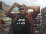 Alpha Latinx Ultra Soft Charcoal Black Short Sleeve Latin Empowerment Tee Large