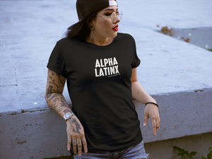 Alpha Latinx Ultra Soft Charcoal Black Short Sleeve Latin Empowerment Tee Extra Small