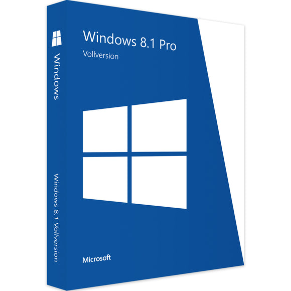 Microsoft Windows 8.1 Professional - Software-Markt