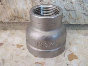 "1"" x 3/4"" Stainless Steel Reducing Coupler - RushfireForgeShop Forging Tools Blacksmithing Blacksmith Forge Iron"