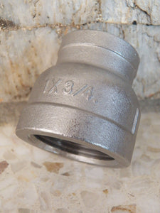 "1"" x 3/4"" Stainless Steel Reducing Coupler - RushfireForgeShop"