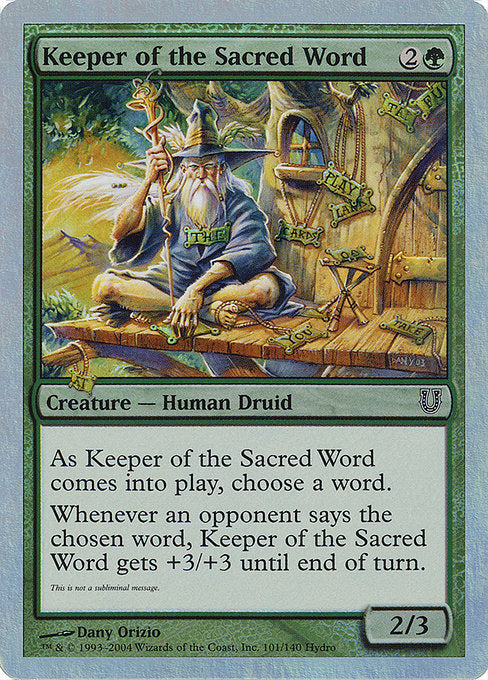 Keeper of the Sacred Word [Unhinged]