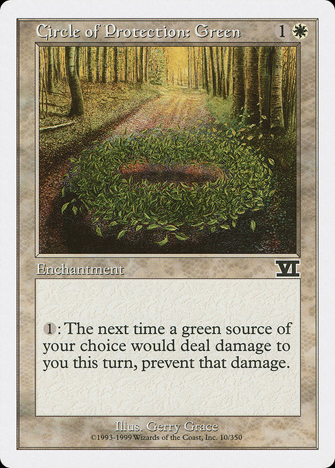 Circle of Protection: Green [Classic Sixth Edition]