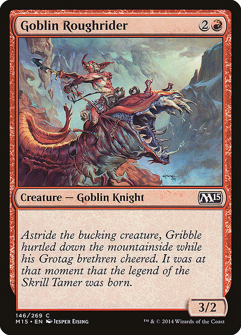 Goblin Roughrider [Magic 2015]