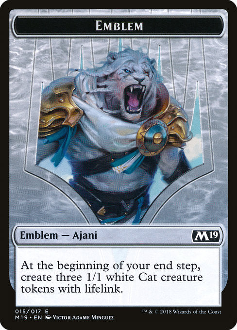 Ajani, Adversary of Tyrants Emblem [Core Set 2019 Tokens]