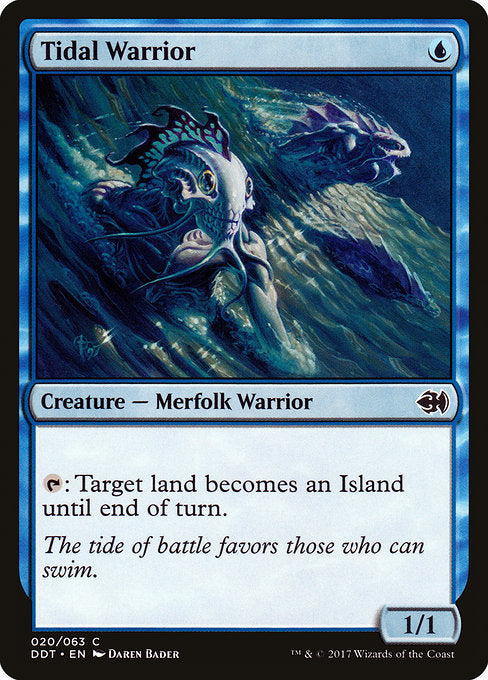 Tidal Warrior [Duel Decks: Merfolk vs. Goblins]