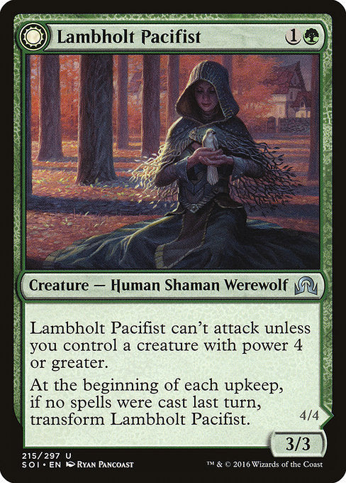 Lambholt Pacifist // Lambholt Butcher [Shadows over Innistrad]