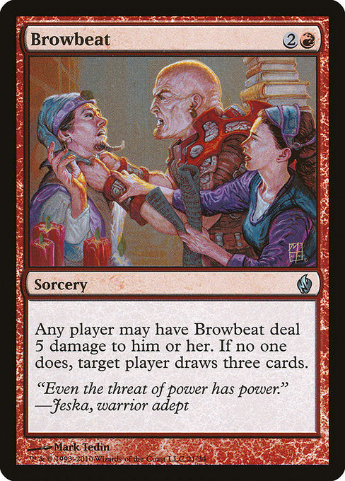Browbeat [Premium Deck Series: Fire and Lightning]