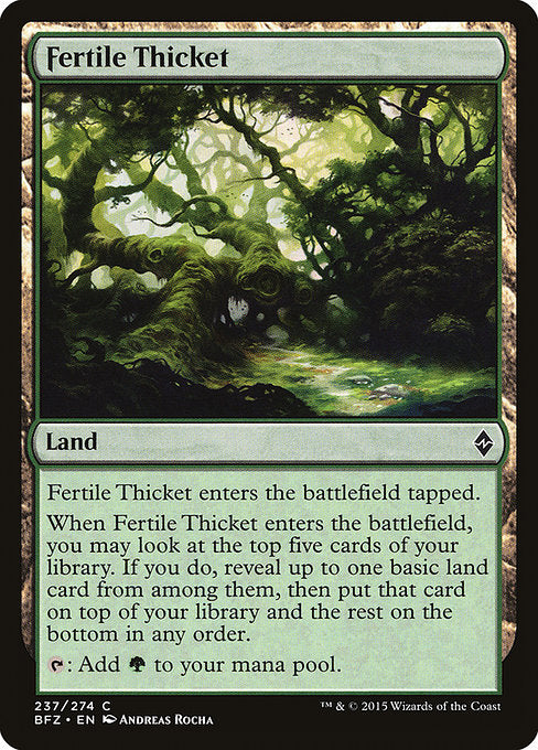Fertile Thicket [Battle for Zendikar]
