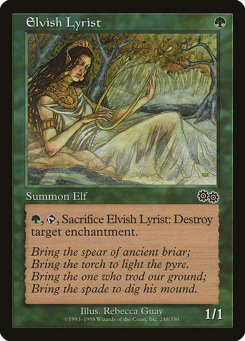 Elvish Lyrist [Urza's Saga]