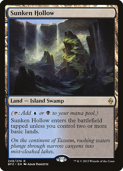 Sunken Hollow [Battle for Zendikar]