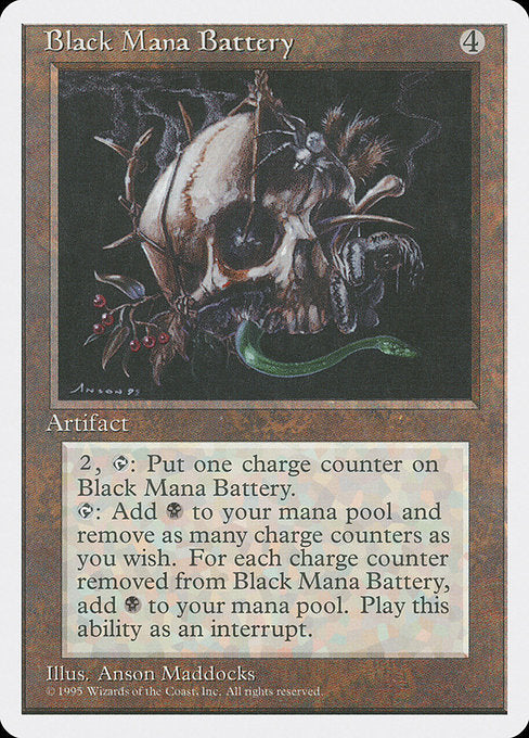 Black Mana Battery [Fourth Edition]