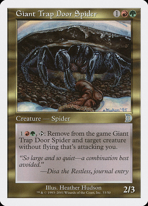Giant Trap Door Spider [Deckmasters]