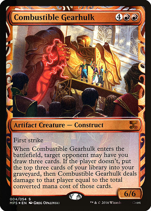 Combustible Gearhulk [Kaladesh Inventions]