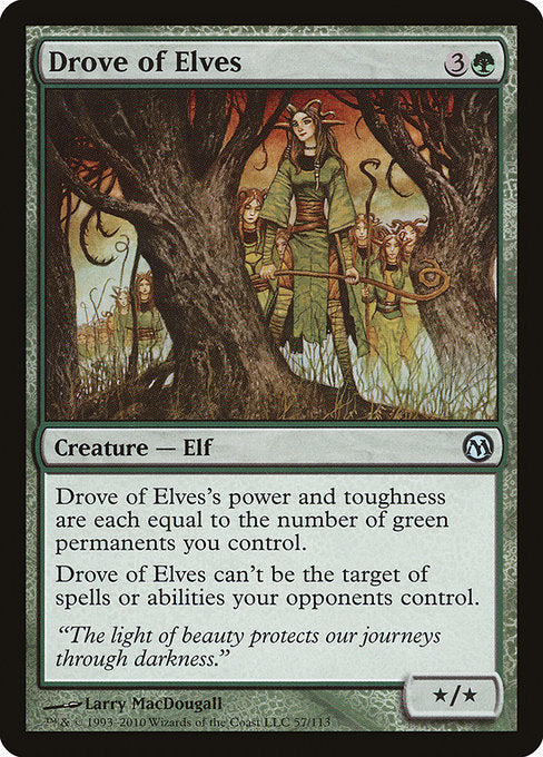Drove of Elves [Duels of the Planeswalkers]