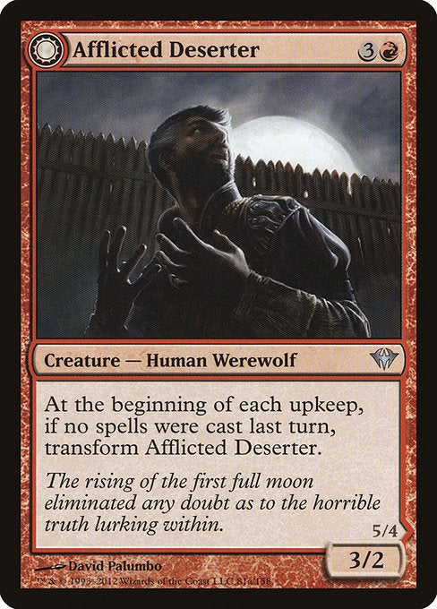 Afflicted Deserter // Werewolf Ransacker [Dark Ascension]