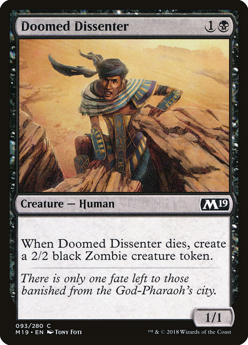 Doomed Dissenter [Core Set 2019]