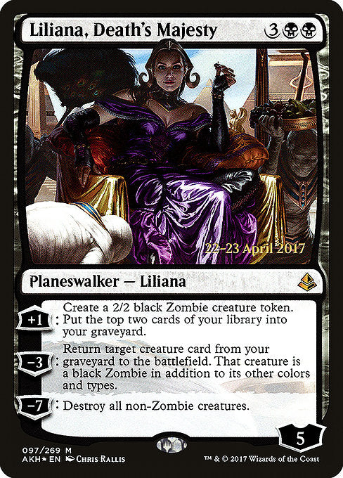 Liliana, Death's Majesty [Amonkhet Promos] | The Dark Side