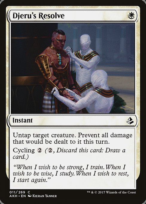Djeru's Resolve [Amonkhet]