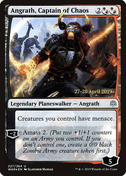 Angrath, Captain of Chaos [War of the Spark Promos]
