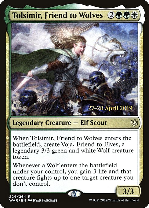 Tolsimir, Friend to Wolves [War of the Spark Promos]