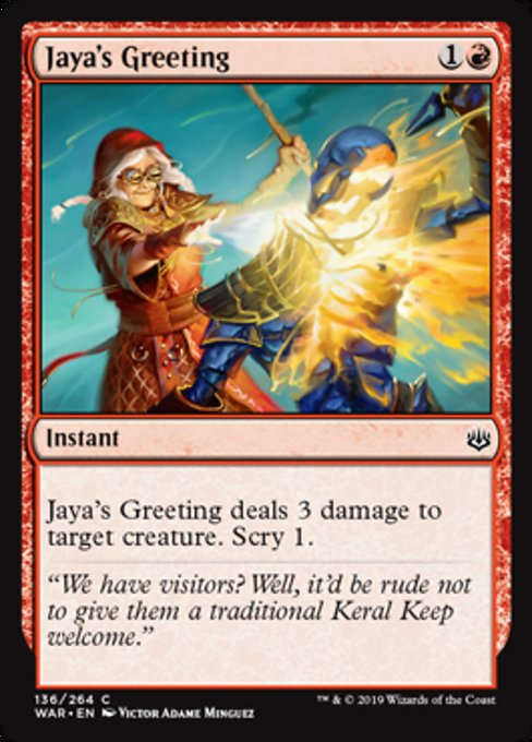 Jaya's Greeting [War of the Spark]