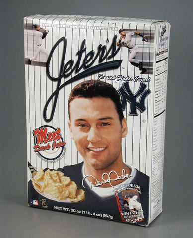 Jeter's Frosted Flakes cereal. One of many endorsements by the Yankees' shortstop.