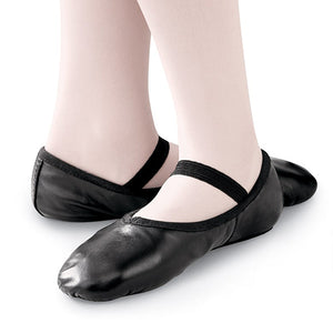 Balera Full Sole Leather Ballet Shoe (Black)