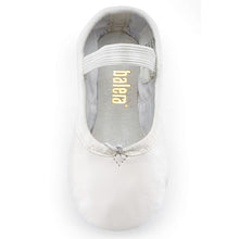 Load image into Gallery viewer, Balera Full Sole Leather Ballet Shoe (White)