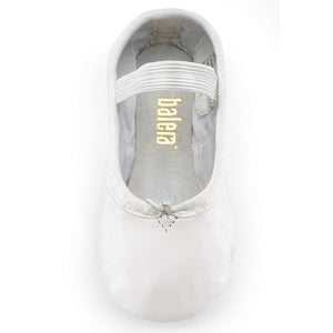 Balera Full Sole Leather Ballet Shoe (White)