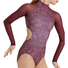 Load image into Gallery viewer, Baroque Mesh Sleeve Leotard