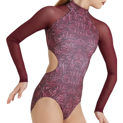 Baroque Mesh Sleeve Leotard