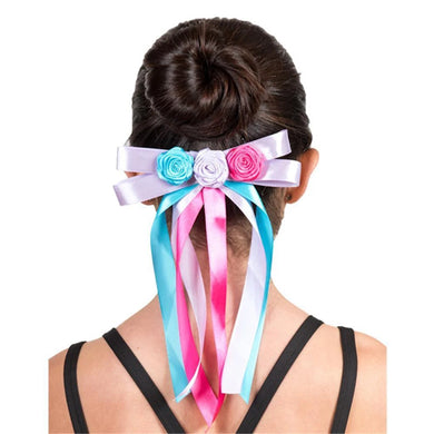 Barrette Flower Ribbon