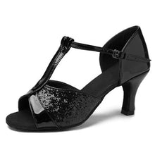 Load image into Gallery viewer, Sparkle T-Strap Heels