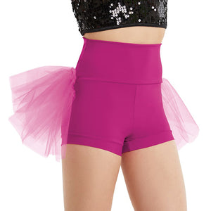 High Waist Bustle Shorts