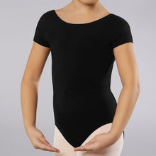 Load image into Gallery viewer, Short Sleeve Cotton Leotard