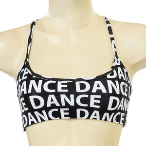 Dance Print X Back Croptop
