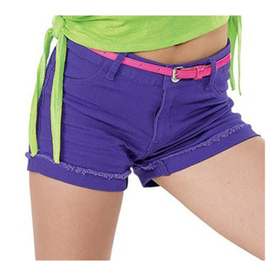 Bright Colour Denim Shorts