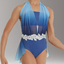 Load image into Gallery viewer, Draped Ombre Mesh Leotard