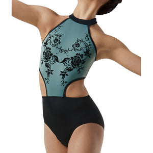 Floral Flocked Leotard
