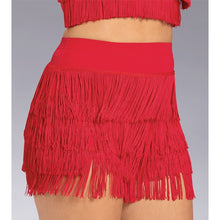 Load image into Gallery viewer, High Waist Fringe Dance Shorts