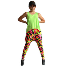 Load image into Gallery viewer, Geometro Harem Pants and Racerback Tank Set