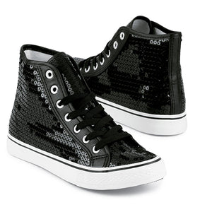 High Top Sequin Shoes