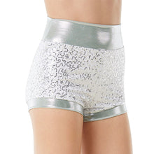 Load image into Gallery viewer, High Waist Sequin Shorts