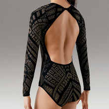 Load image into Gallery viewer, Long Sleeve Glitter Print Leotard