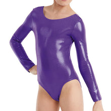 Load image into Gallery viewer, Long Sleeve Metallic Leotard