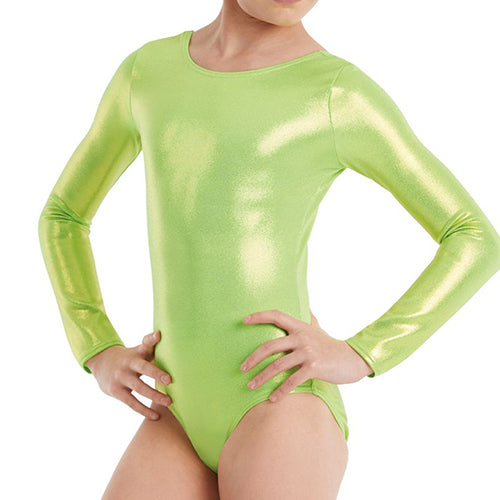 Long Sleeve Metallic Leotard