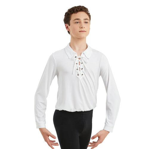 Boys Laced Ballet Shirt