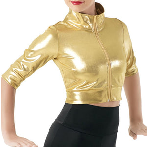 Metallic Crop Jacket